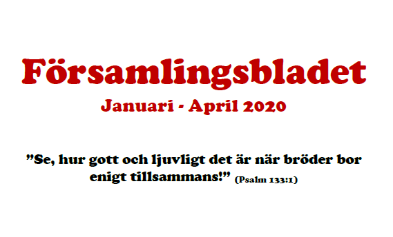 Nytt församlingsblad jan-april 2020